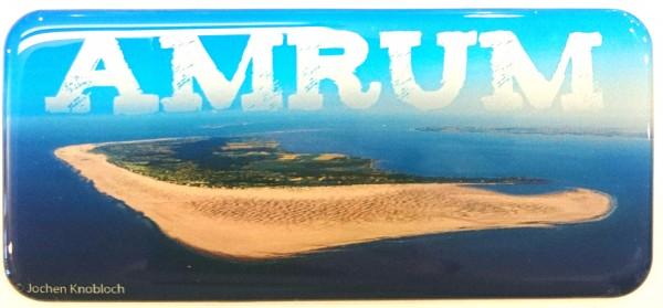 Panoramamagnet Luftbild Amrum