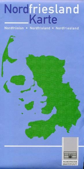 Nordfriesland Karte - dreisprachig friesisch dänisch deutsch