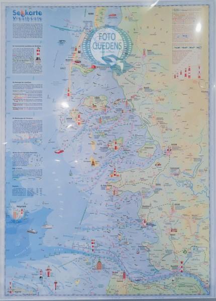 Se'h'karte Westküste Schleswig-Holstein (Poster 50x70cm)