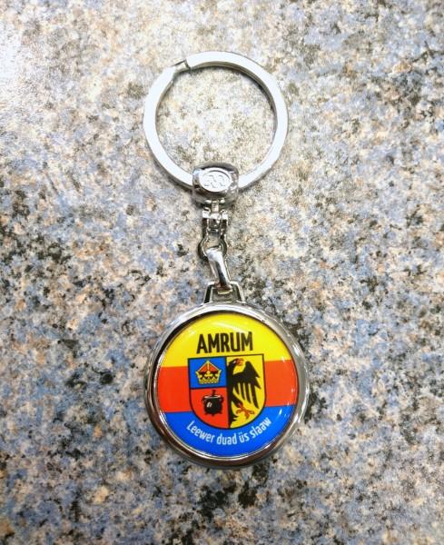Schlüsselanhänger rund, Wappen Amrum