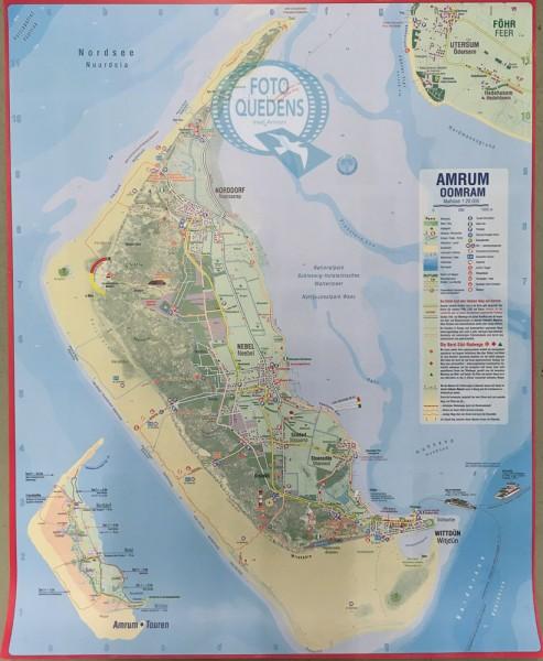 Amrum - Touristische Karte 1:20.000 (Poster 48x59cm)