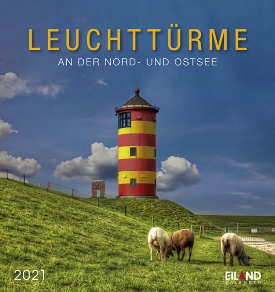 Leuchttürme - Postkartenkalender 2021 - An der Nord- & Ostsee