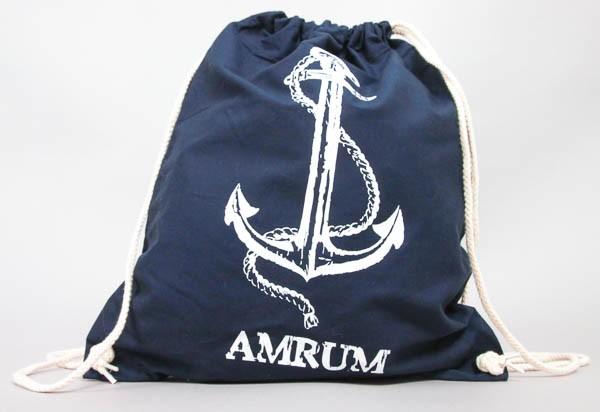Turnbeutel Amrum mit Anker, blau