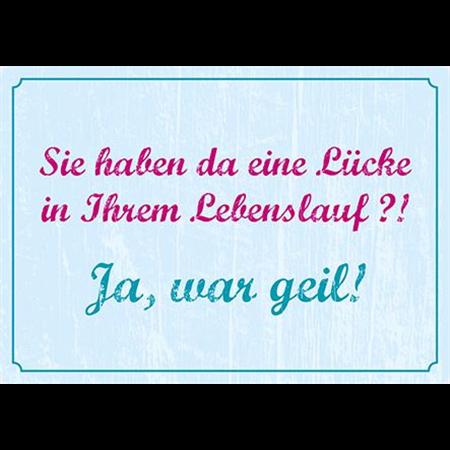 "Kühlschrankmagnet ""Lücke im Lebenslauf"""