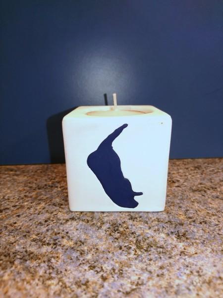 Keramik Teelichthalter, Amrum Inselumriss
