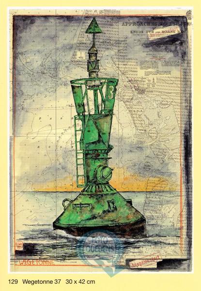 """Kunstdruck von Ole West """"Wegtonne 37"""", 30x40cm"""
