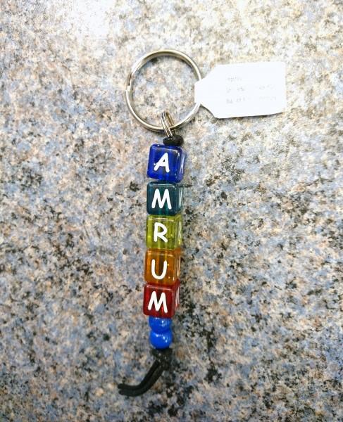 Schlüsselanhänger Buchstabenwürfel AMRUM