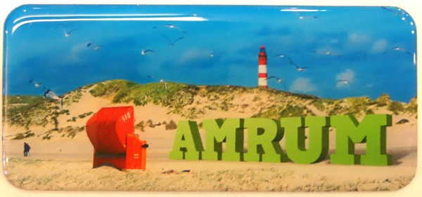 Panoramamagnet Strandkorb, Amrum