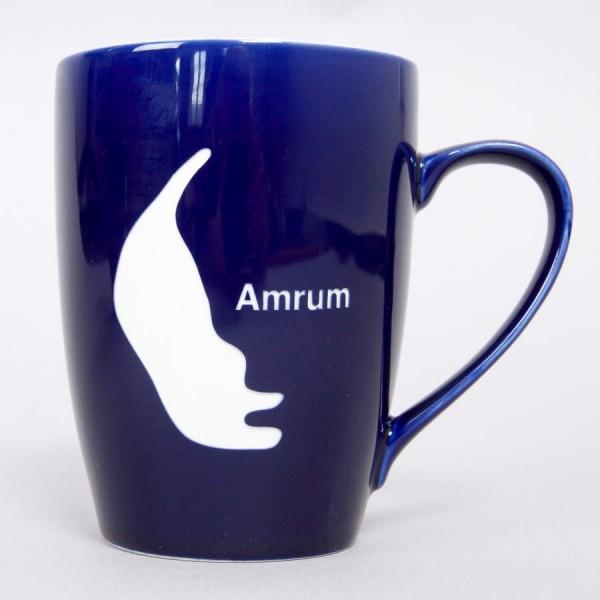 Amrum-Becher, mit gesandstrahlter Silhouette