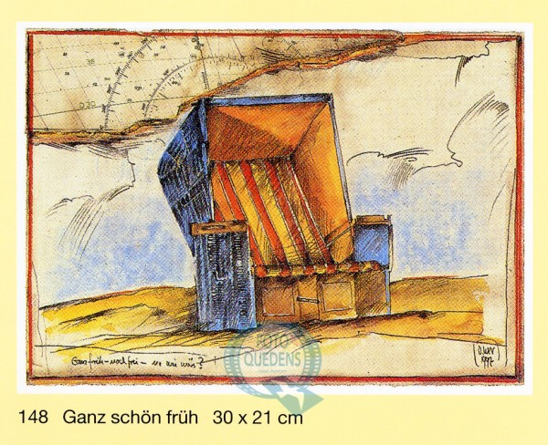 """Kunstdruck von Ole West """"Ganz früh - noch frei"""", 30x21cm"""